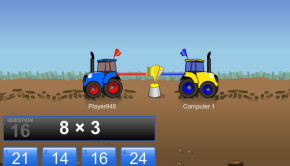 Tractor Pull cool math ,multiplication game