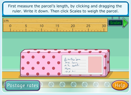 Cool Math game parcel measurement