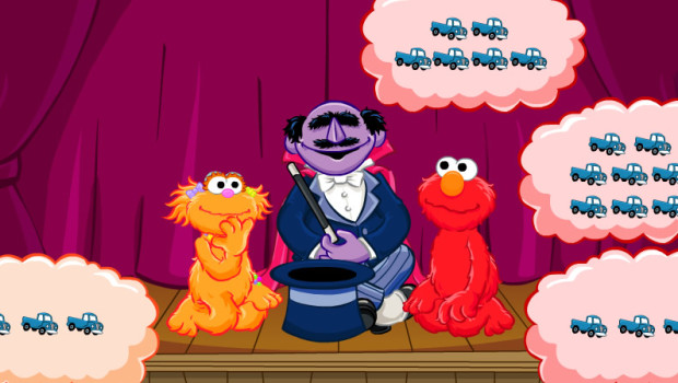 Sesame Street counting math game