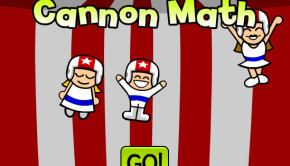 Cannon Math cool mathematics game