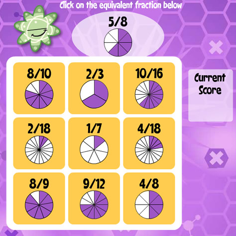 image relating to Equivalent Fractions Games Printable identify Identical Fractions Bingo Awesome Math game titles